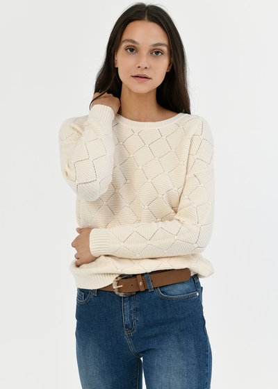 Mariel sweater with openwork stitch