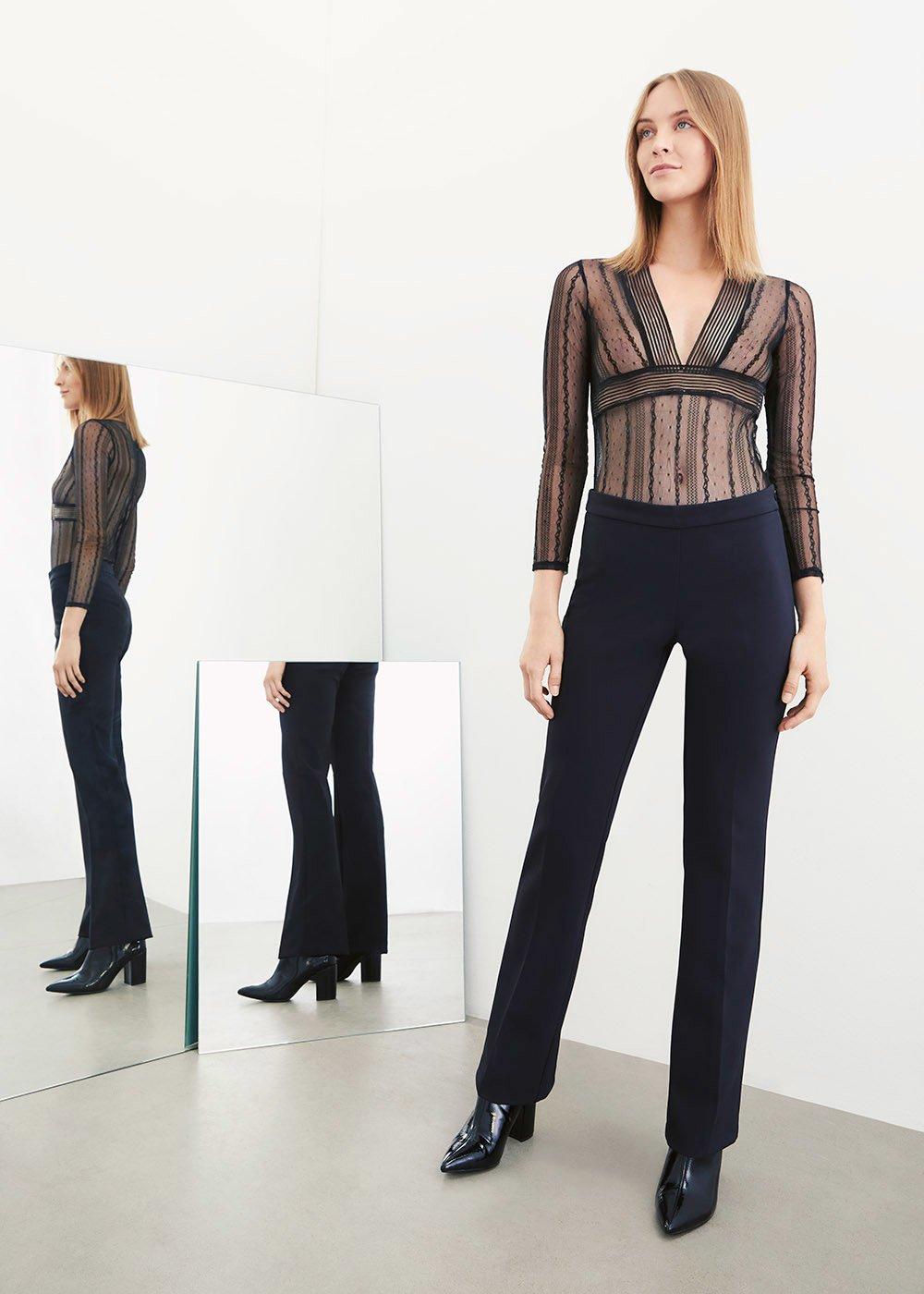 Pantalone Victoria modello zampa - Black - Donna