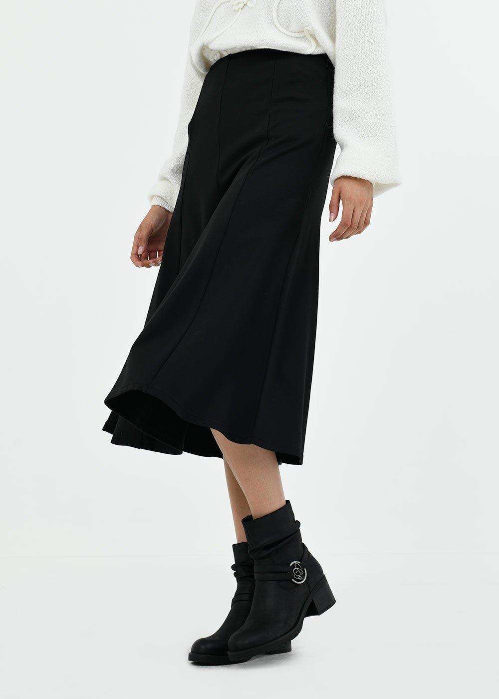 Glen skirt in Milano stitch - Black - Woman