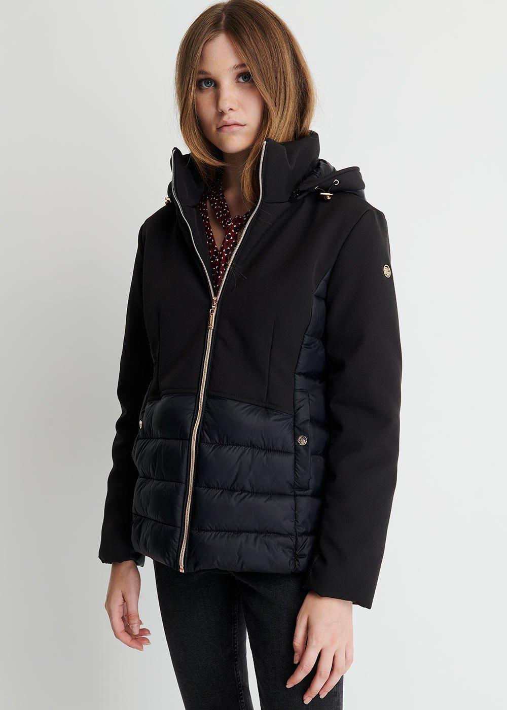 Pimer Shiny Nylon down jacket - Black - Woman
