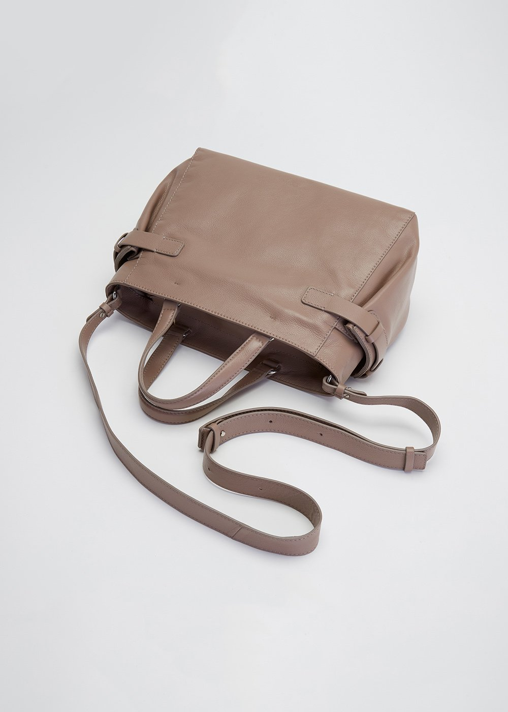 Bess tote bag with shoulder strap - Taupe - Woman