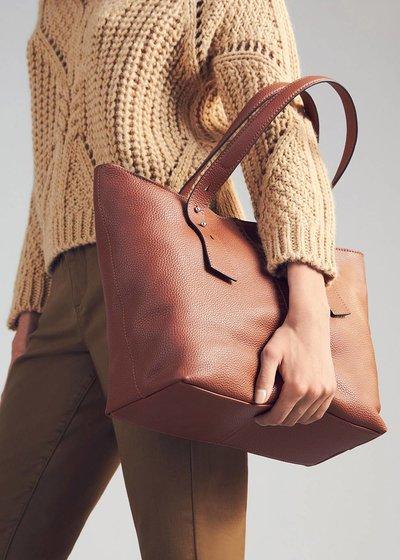 Beren genuine leather shopping bag