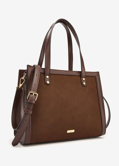 Britney faux-suede shopping bag