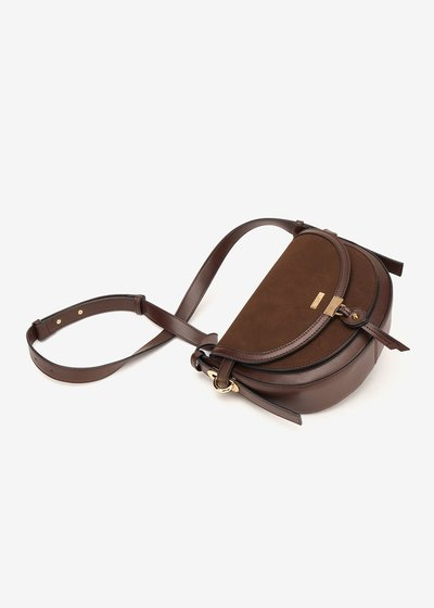Backy faux-suede shoulder bag