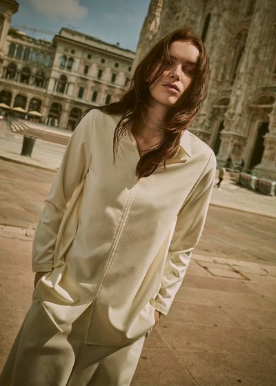 Clizia v-neck blouse