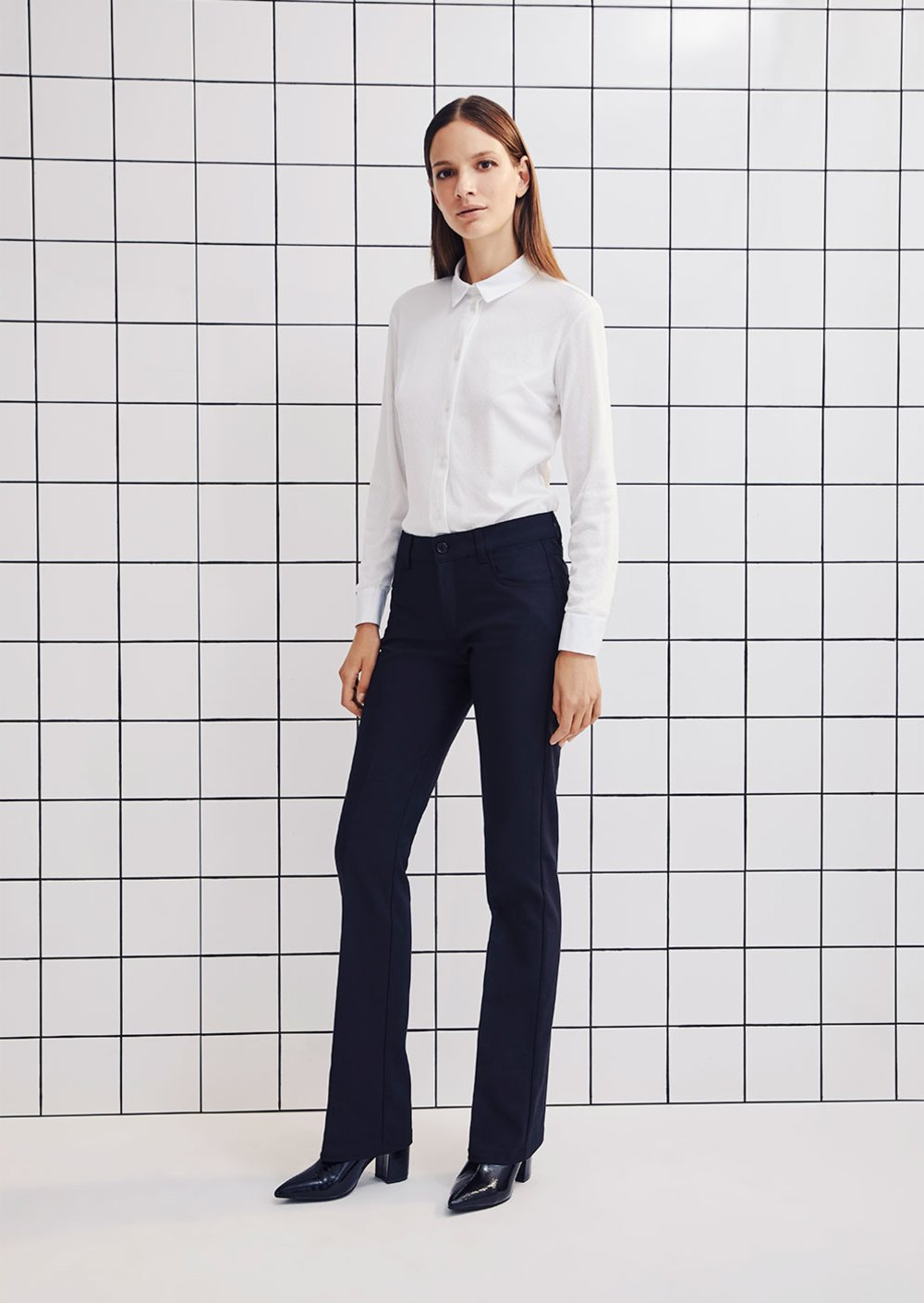 Cindy flared trousers - Black - Woman