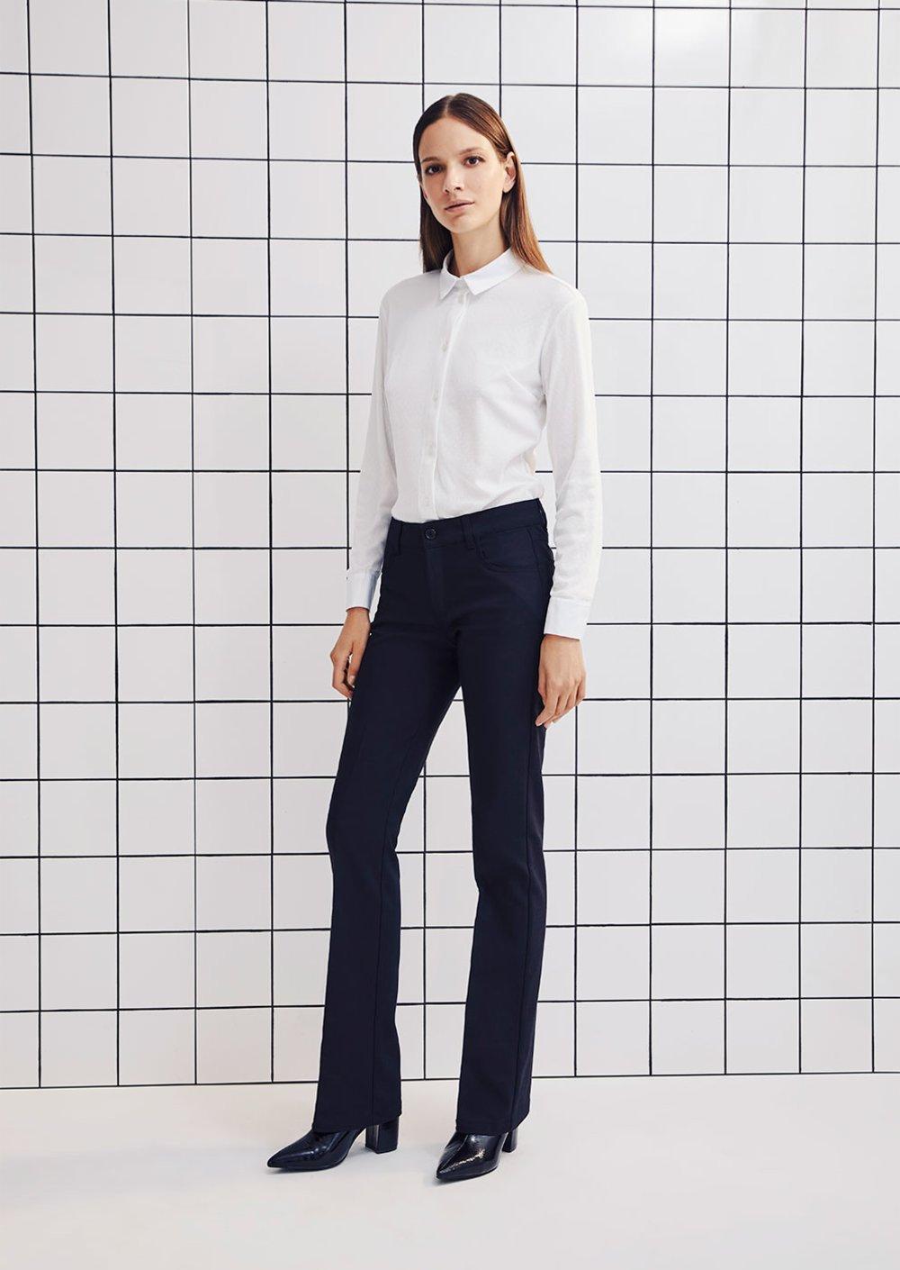 Pantalone Cindy modello zampa - Black - Donna