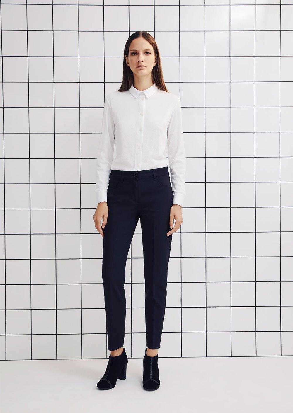 Pantalone Kate modello skinny - Black - Donna