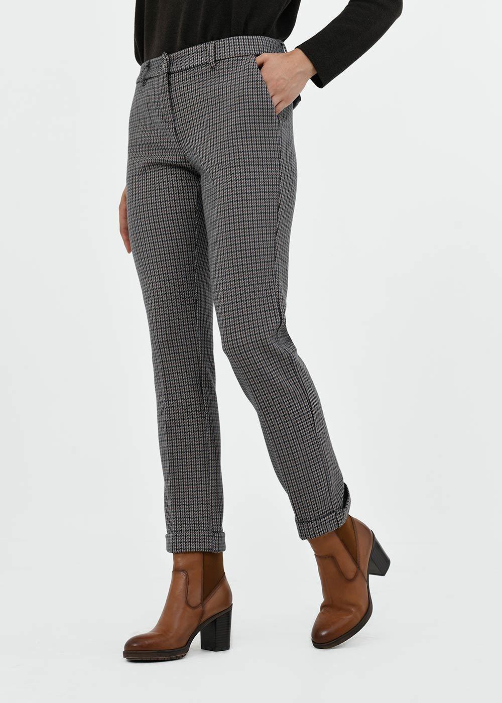 Bella trousers with micro check pattern - Avion \Mora Fantasia - Woman