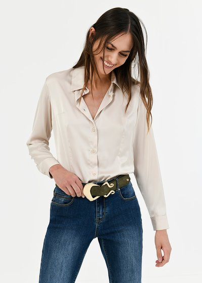 Alessia shirt with satin effect