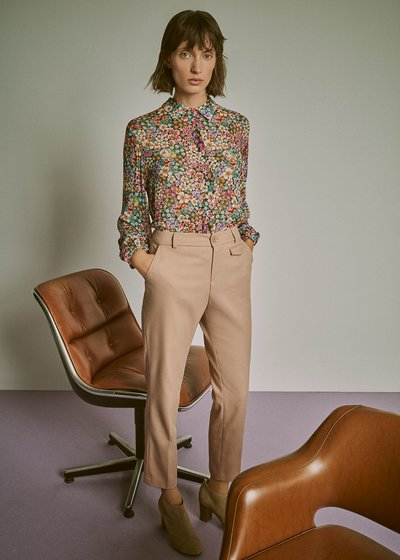 Cathy viscose shirt with flowers