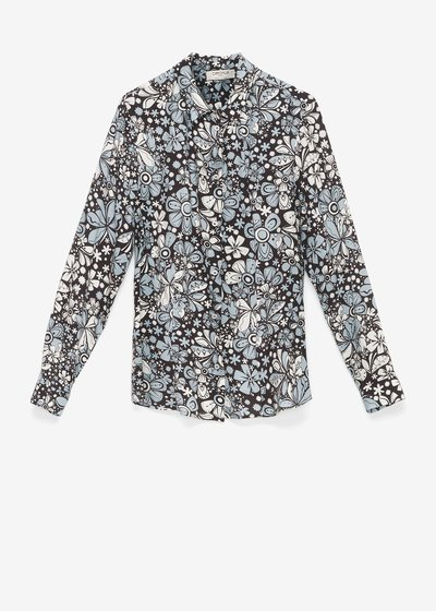 Clelia shirt with floral pattern