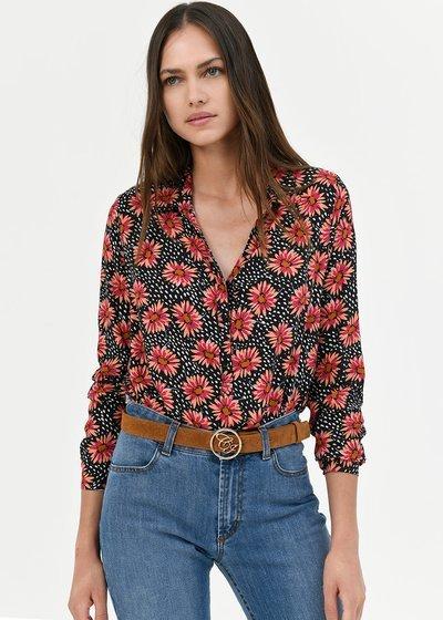 Camilla shirt with daisy print