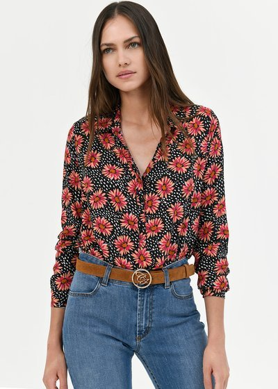 Camilla shirt with daisy print