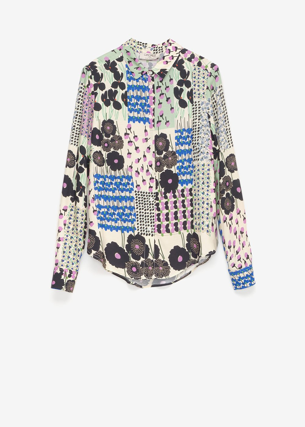 Cristie shirt with floral pattern - Cream  /  Black Multi - Woman
