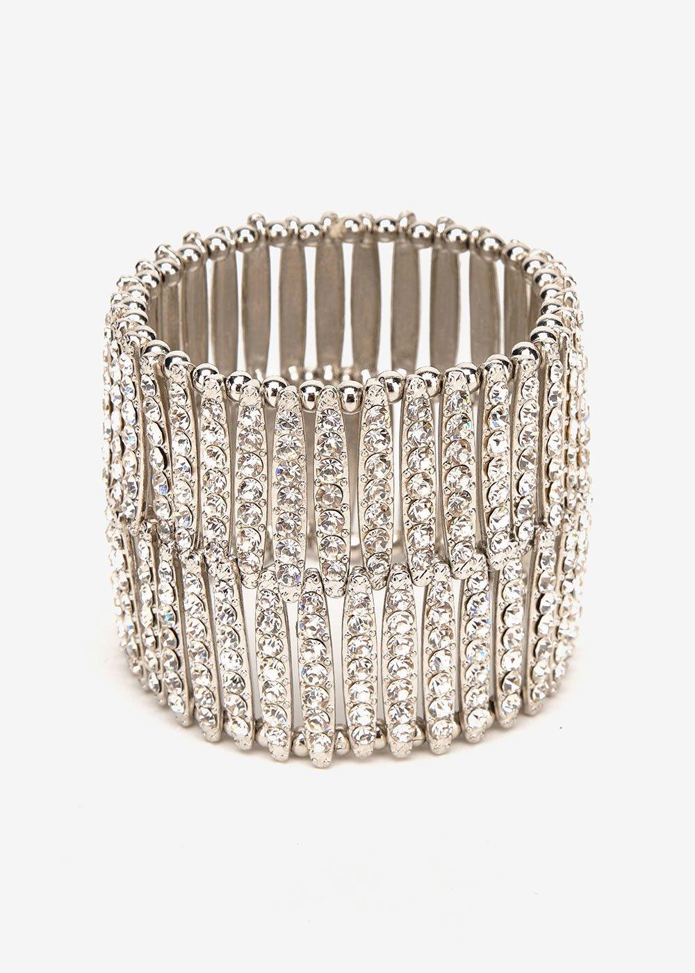 Bracciale Beky in maglia - Silver - Donna