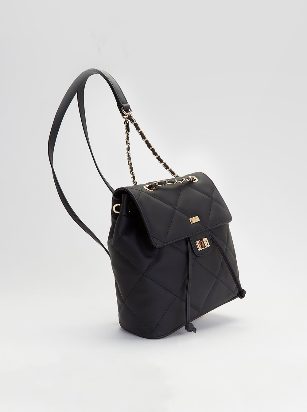 Beky backpack with rubberized effect - Black - Woman