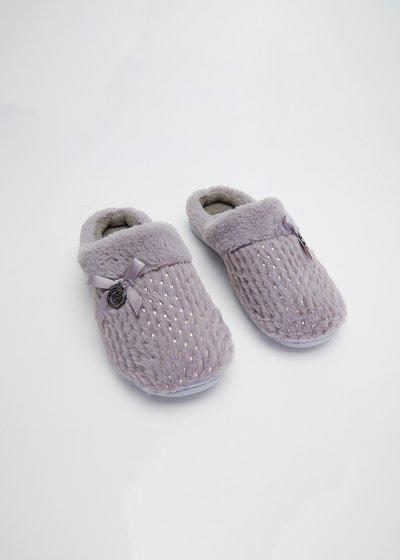 Pantofole Petsy con ricamo di paillettes