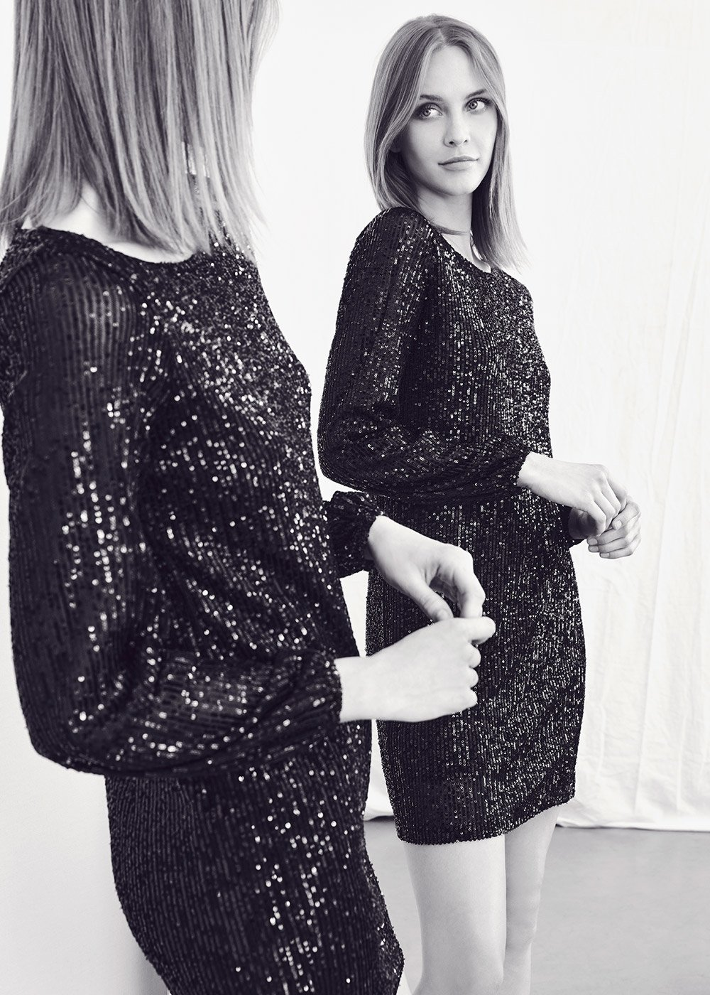 Aenold sequined dress - Black - Woman