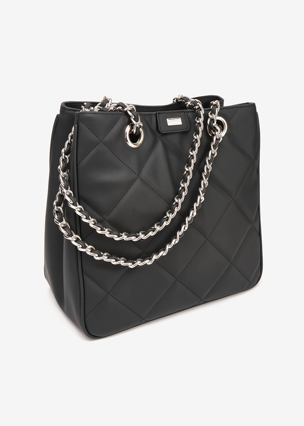 Bambi shopping bag with quilted effect - Black - Woman