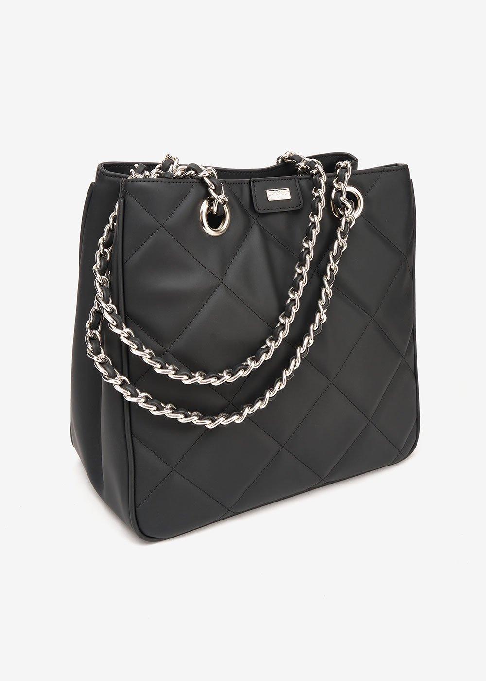 Shopping bag Bambi effetto matelassè - Black - Donna
