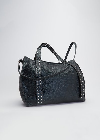 Brooke shopping bag with studs