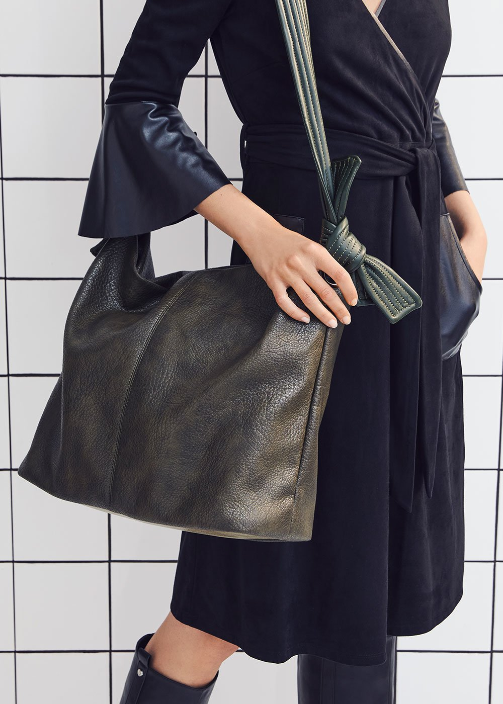 Blanche faux-leather bag - Green - Woman