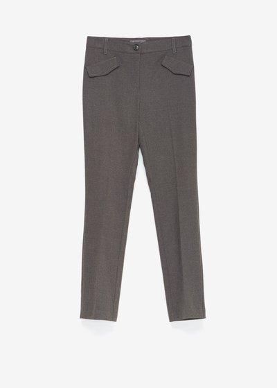 Pantalone Carrie in tessuto flanella