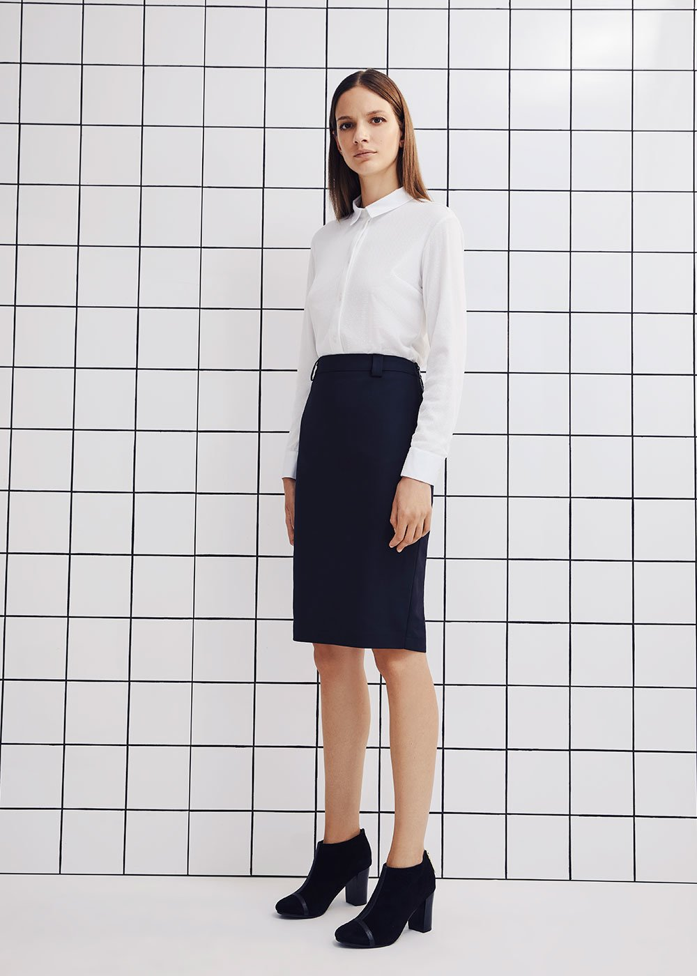 Elisabeth pencil skirt - Black - Woman