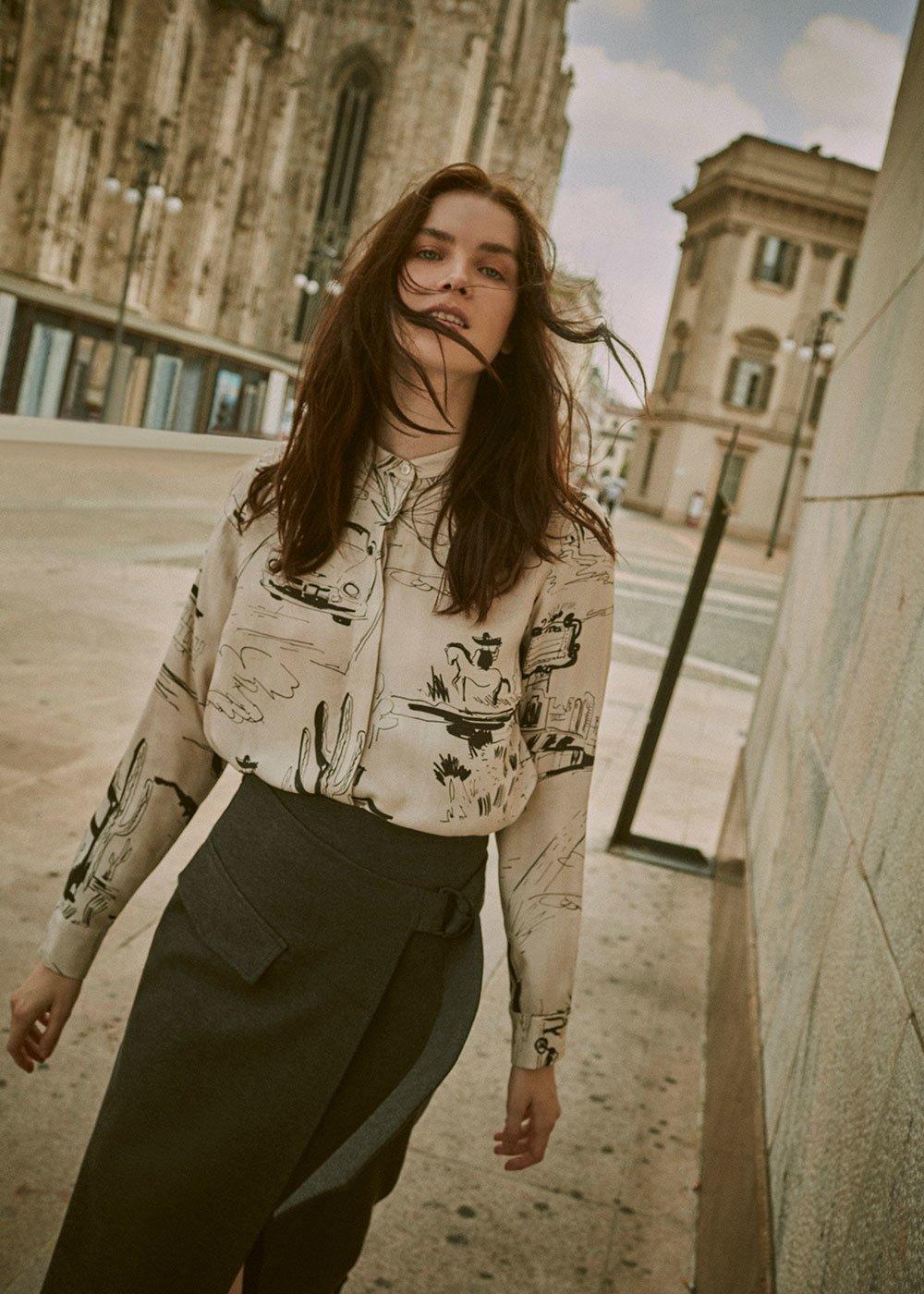 Corinne shirt with comic strip pattern - Luna\ Black Fantasia - Woman