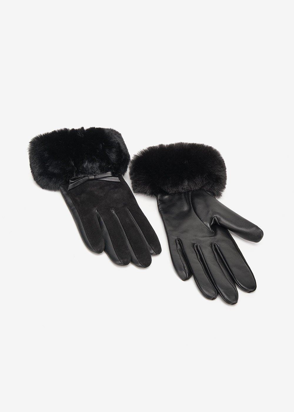 Gradis genuine leather gloves - Black - Woman