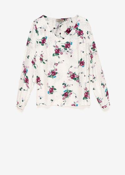 T-shirt Sabryna stampa fiori