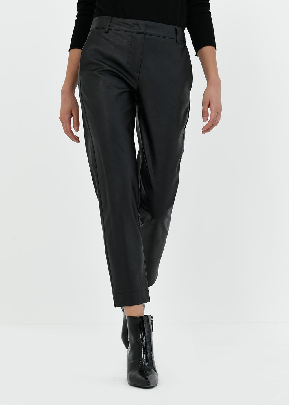 Pantalone Katerun in eco pelle  - Black - Donna