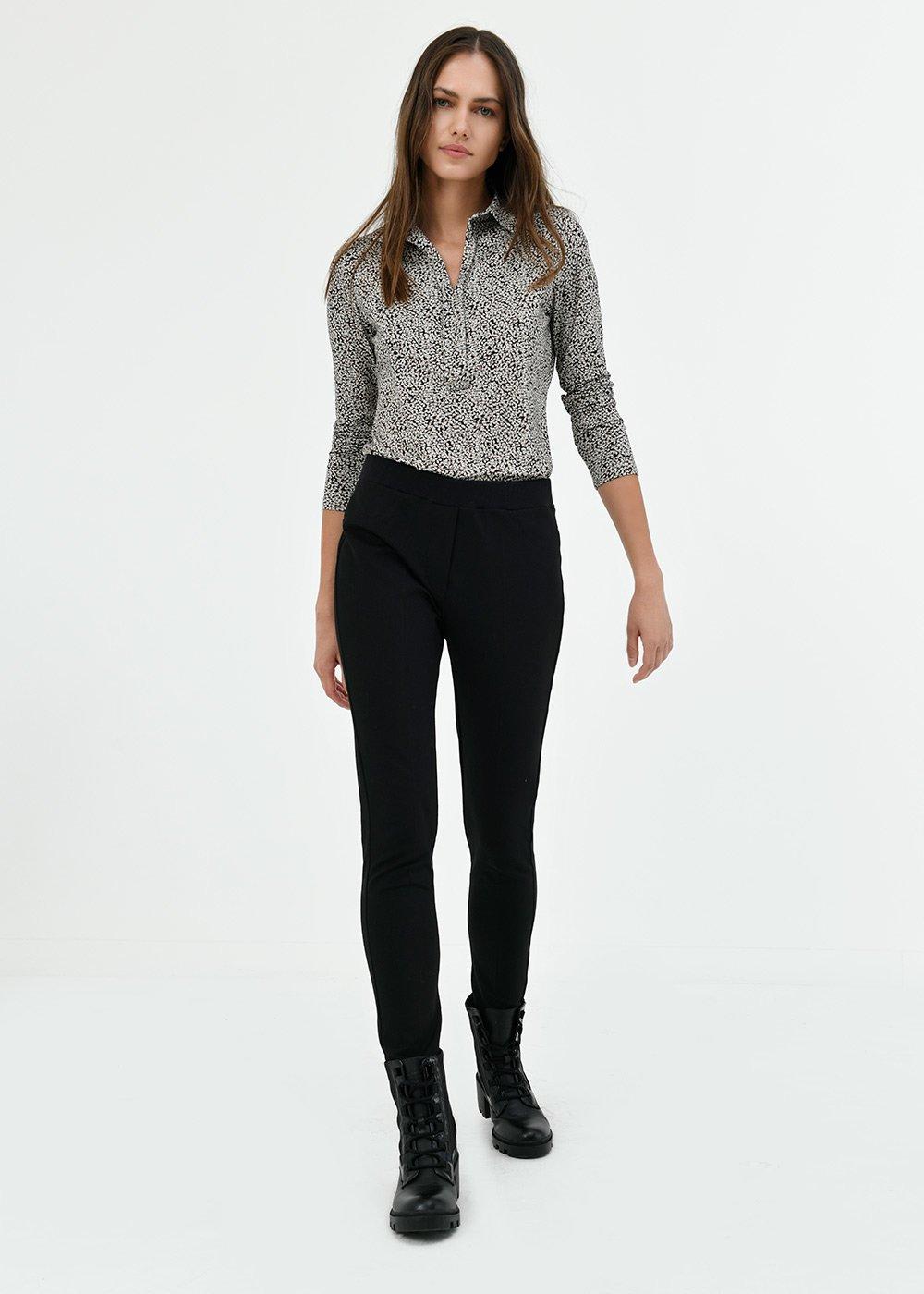 Pantalone Kelly con elastico in vita - Black - Donna