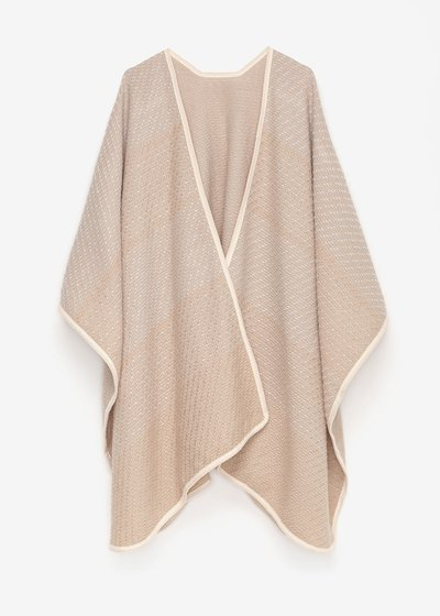 Melly cape with contrasting edging