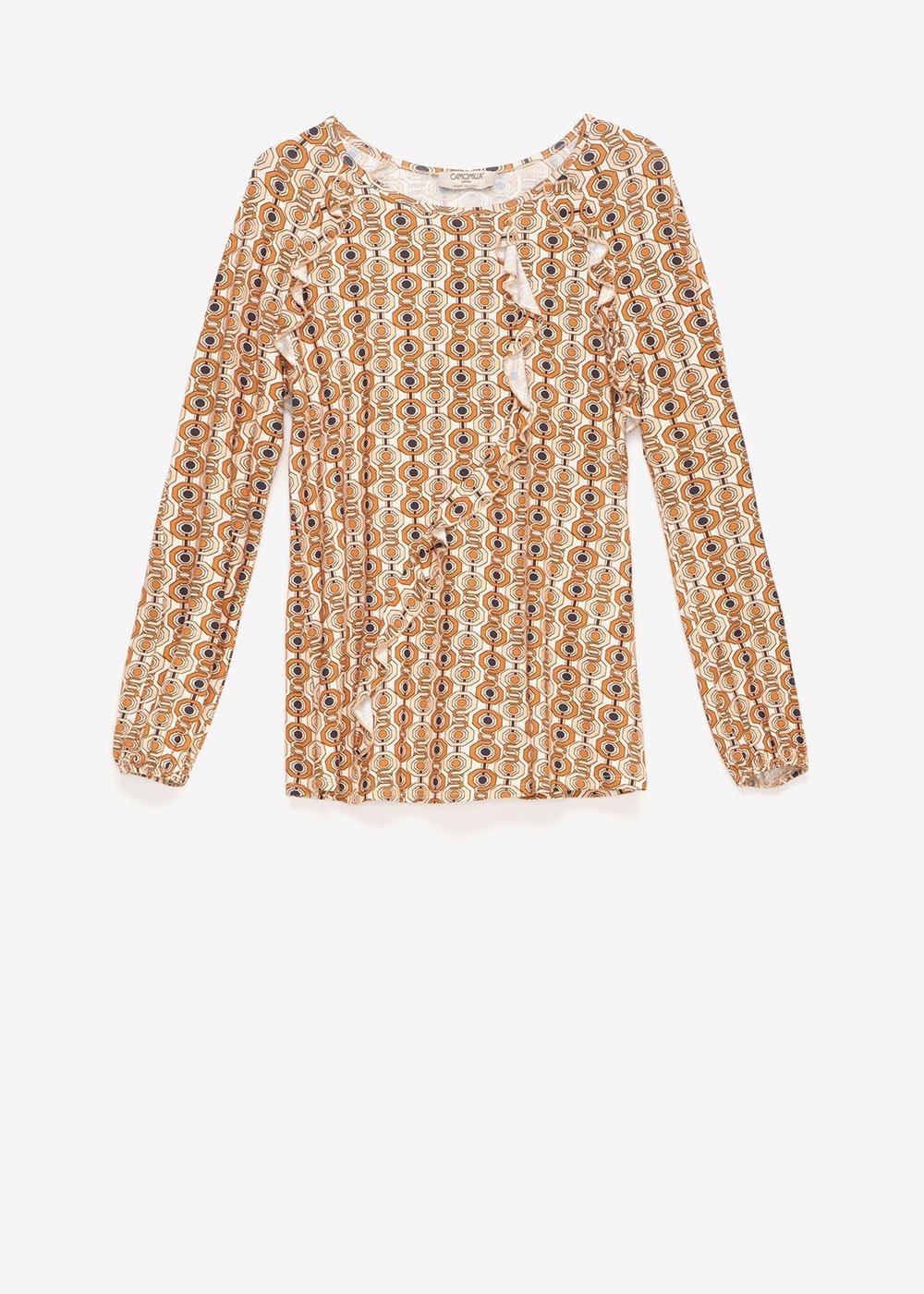 Shila T-shirt with chain print - Cream / Honey Multi - Woman