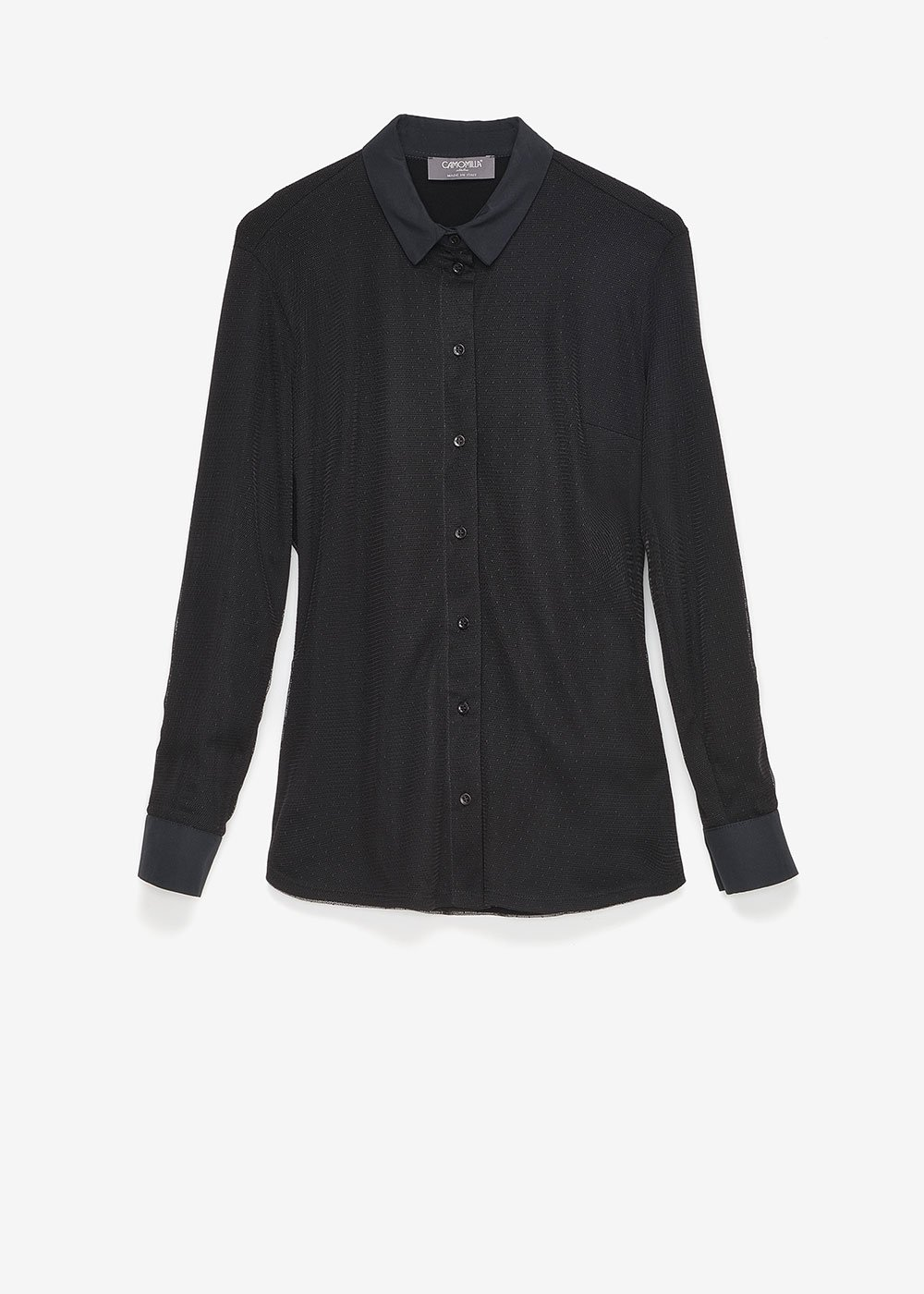 Christie dotted tulle shirt - Black - Woman