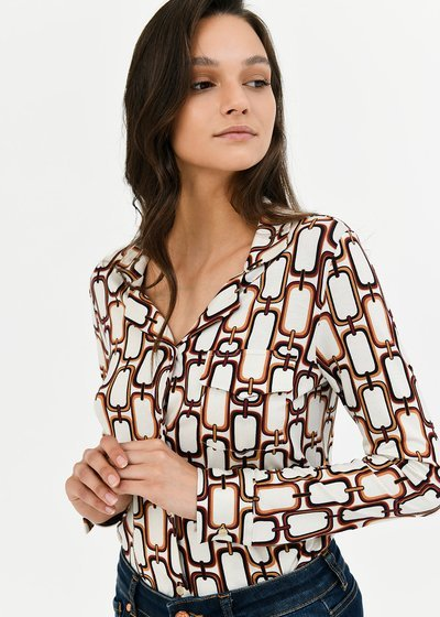 Christine shirt with chain print