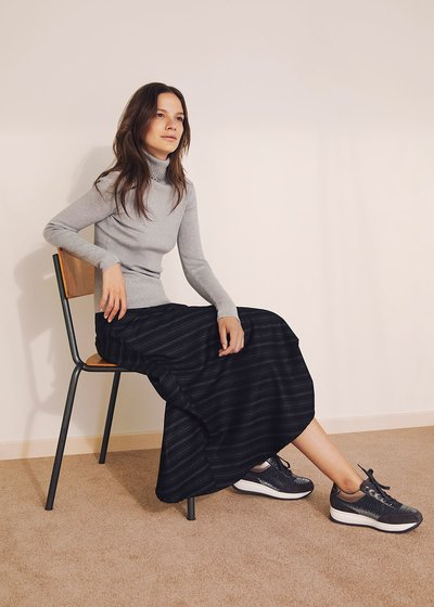 Giulia mid-length skirt