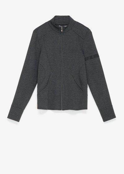 Fiona sweatshirt in Milano stitch