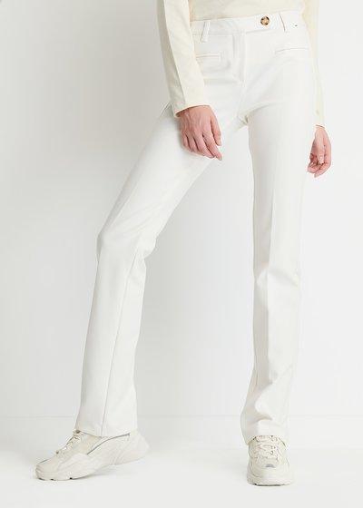 Miranda Slim Fit Trousers in White