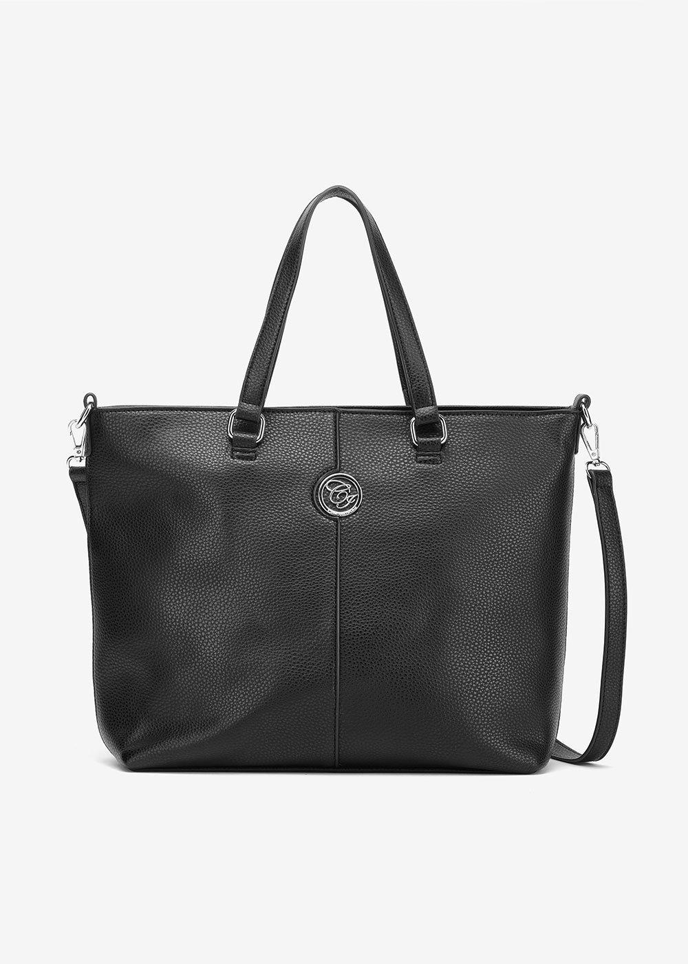 Baggy deer print shopping bag - Black - Woman