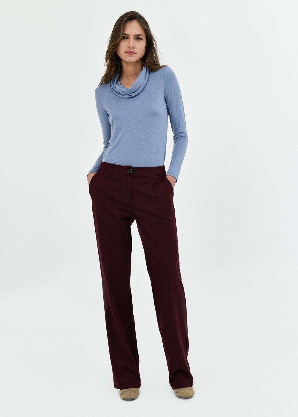 Clair grape purple trousers - Grape - Woman