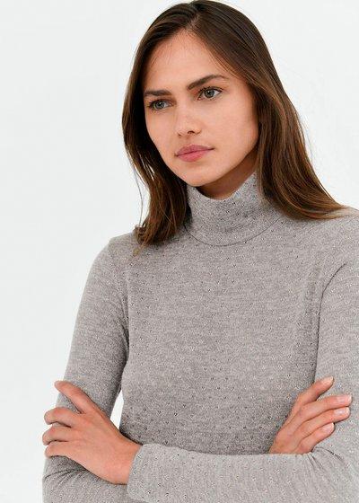 Marsha sweater with silver polka dots
