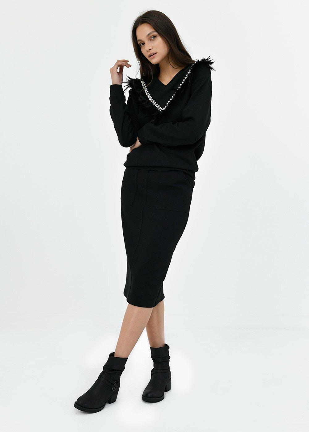 Grisel pencil skirt - Black - Woman