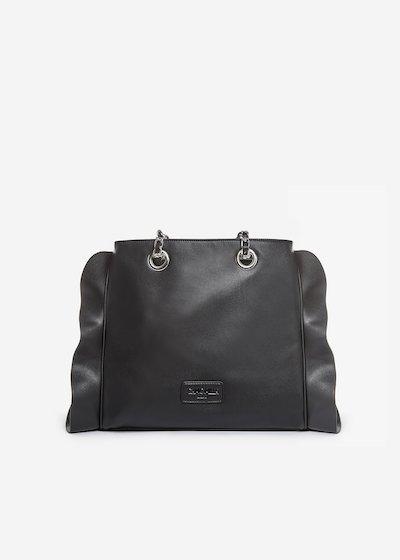 Besmira bag ruffle effect black