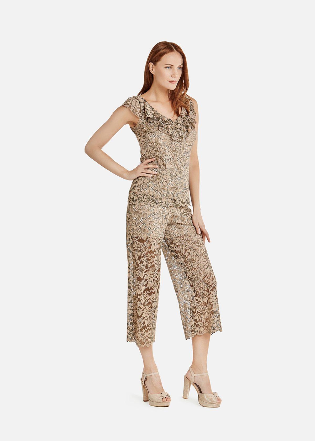 Pantaloni Paiper in pizzo - Alga