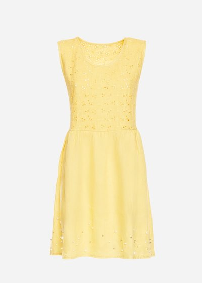 Alison dress with corsage in Saint Gallus lace
