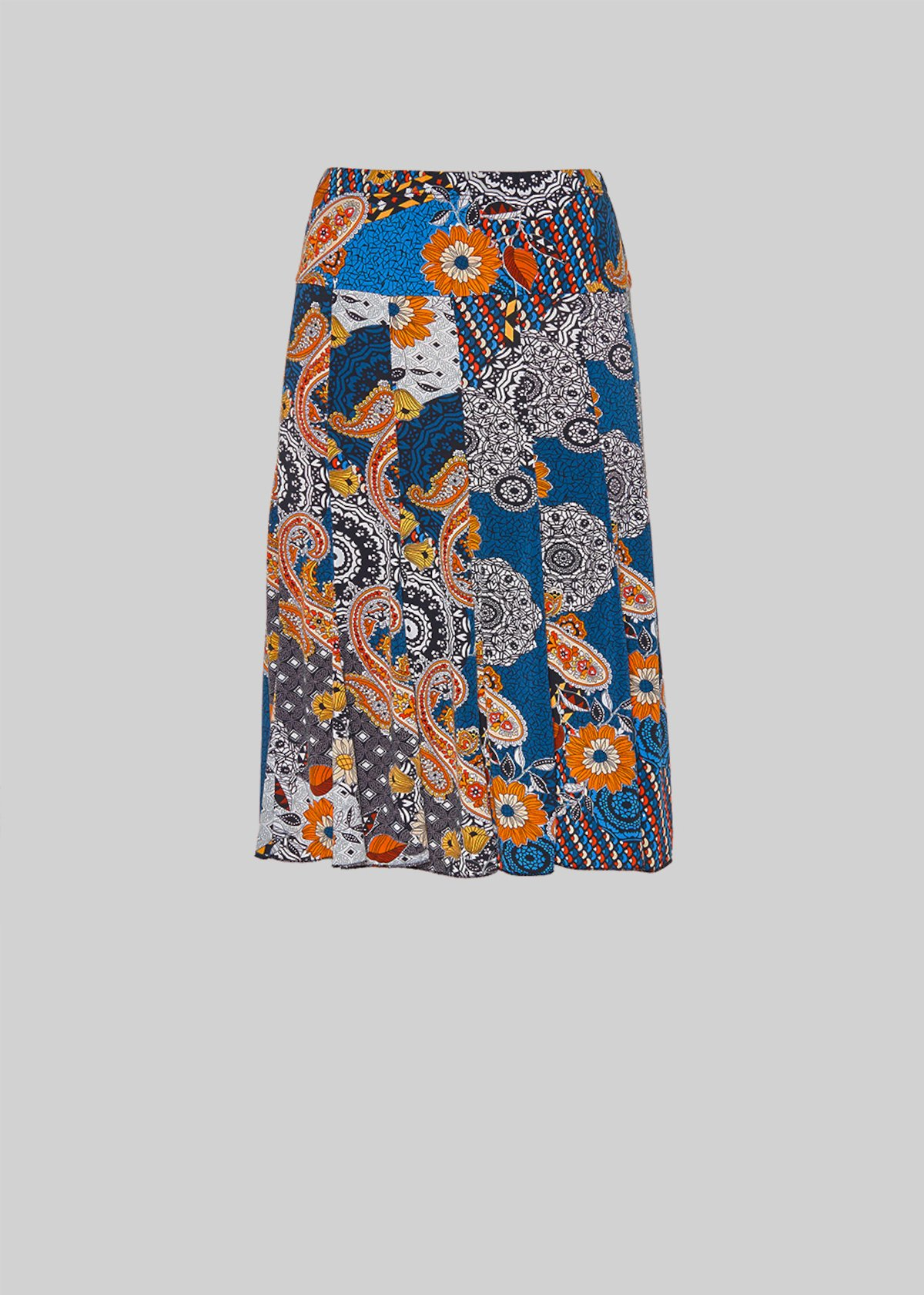All over printed Gabry jersey skirt