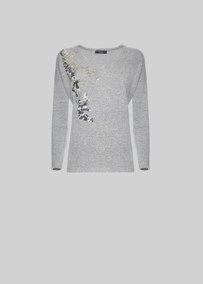 Manuel sweater with sequined detail on the front